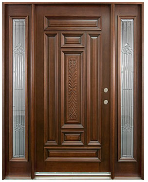 Hand Carved Collection Solid Wood Entry Door Wood Doors
