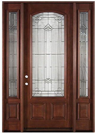 French collection solid wood entry door wood doors for Solid french doors exterior