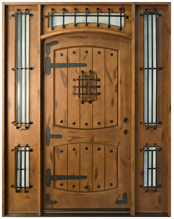 Rustic series solid wood entry door wood doors for Wooden doors and windows
