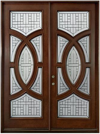Contemporary series solid wood entry door wood doors for Wooden doors and windows